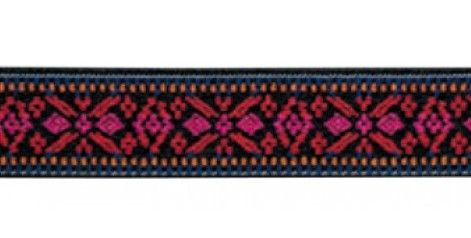 Λάστιχο Prym ζώνης με το μέτρο. (Τιμή ανά 1 μέτρο) Χρώματος: Ζακάρ Λουλούδια Μέγεθος: Φάρδος 25mm