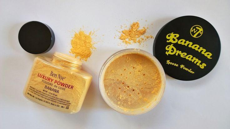 Banana Split : Ben Nye Banana Powder vs W7 Banana Dreams Powder - Macy