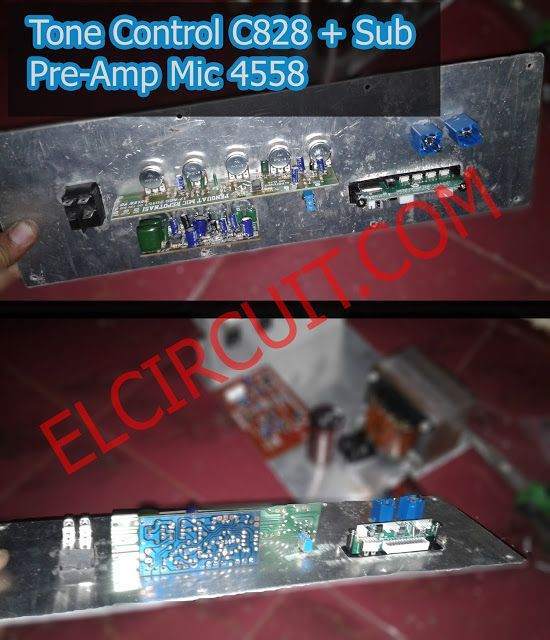 Project Mic Pre Amplifier Mic And Tone Control C828 + Sub