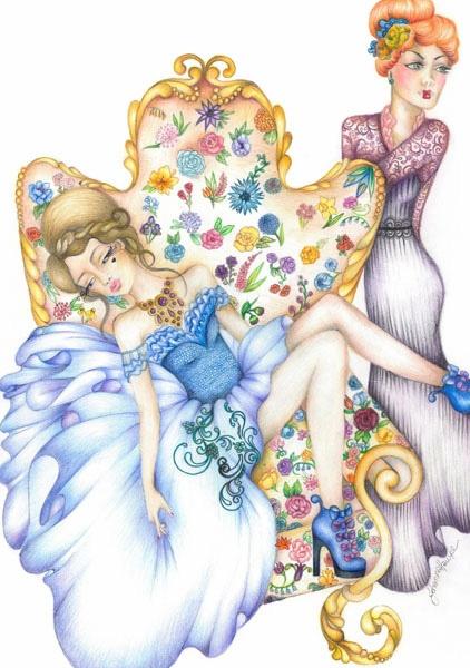 'Flowers For Ailsa' Illustration by Johanna Hawke