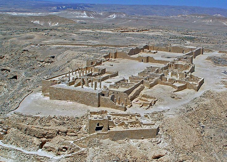 Four towns in the Negev Desert are linked directly to the Mediterranean terminus of both the Incense Road & Spice routes: Avdat, Haluza, Mamshit, & Shivta. As a group, these desert cities demonstrate the lucrative trade in frankincense & myrrh that took place from south Arabia to the Mediterranean. At its height, from the 3rd century BC to the 2nd century, the route included cities, Qanat irrigation systems, fortresses, & caravanserai. The vestiges of these works are still visible