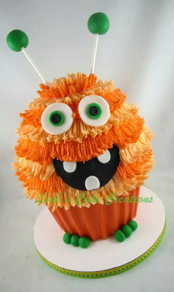 Monster giant cupcake