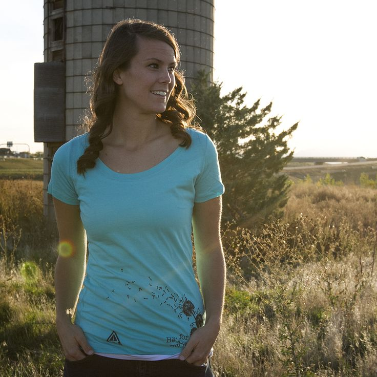 """Dandelion Scoop-neck tee - """"He knows my frame"""" - Psalm 103:14"""