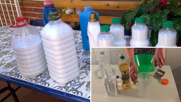 SUAVIZANTE DE TELAS DIY Ingredientes: 150-200 ml de agua caliente + 800 ml de vinagre de sidra de manzana +10 g de bicarbonato de sodio. Recipiente de plástico con capacidad para 3 litros y medio.+ 20 gotas de aceite esencial. Buscar un envase plástico lo suficientemente grande, esto porque la mezcla crece. Luego vierte en el recipiente el agua caliente y luego añádele el vinagre de sidra de manzana y por último el bicarbonato de sodio.