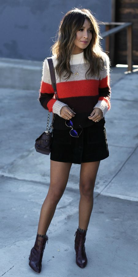excellent black mini skirts outfits 4