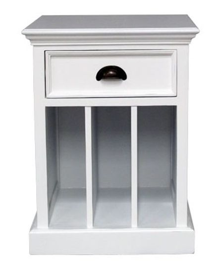 Side Table With Vertical Storage - £199.00 - Hicks and Hicks