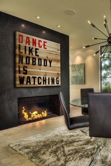 Dance Like Nobody Is Watching Brown Distressed Wood Wall Art by Jen Lee Art on @HauteLook