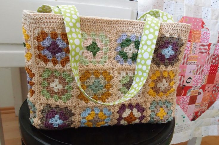 Spring/Summery crochet bag