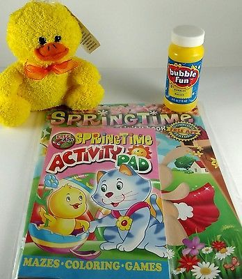 Easter Springtime Colorng Activity Pad Yellow Duck Bubbles FREE Downloadable App