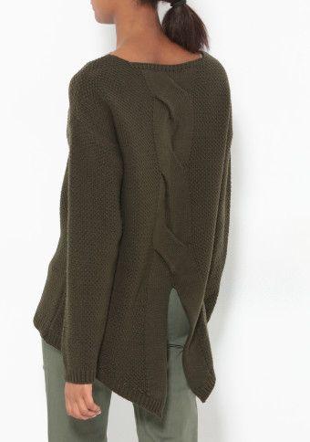 Asymetrický pulovr s rozparkem vzadu #ModinoCZ #casual