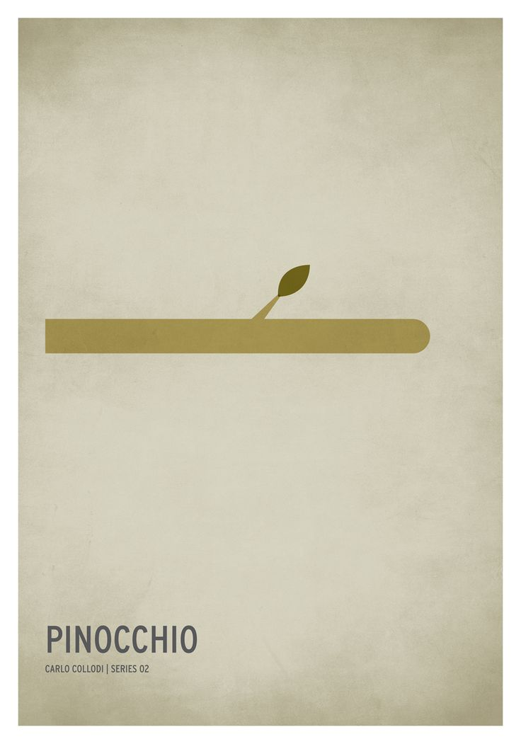 Pinocchio via Sinch.us - Creatieve voorbeelden voor het ontwerpen van je poster. Laat je posters drukken bij Drukzo: http://www.drukzo.nl/posters/a2-posters-drukken.html#category