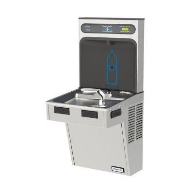Halsey Taylor HAC Series HydroBoost Bottle Filling Station Refrigerated Drinking Fountain in Platinum Vinyl-HTHB-HAC8PV-WF - The Home Depot