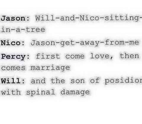 And the son of Poseidon with spinal damage hahahahahaha Forever Laughing at that<<I thought I pinned this already...