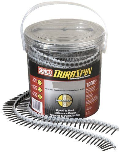 Senco 06A162P DuraSpin Number 6 by 1-5/8-Inch Drywall to Wood Collated Screw (1,000 per Box) by Senco. $19.19. Amazon.com                Save time and money with the Senco 06A162P DuraSpin Number 6 1-5/8-Inch Drywall-to-Wood Collated Screw (1,000 per Box). Designed for attaching drywall to wood, this package provides 1,000 screws to help complete extended flooring jobs. Boasting superior quality and performance, the 06A162P is ideal for professionals and do-it-yourselfers ...