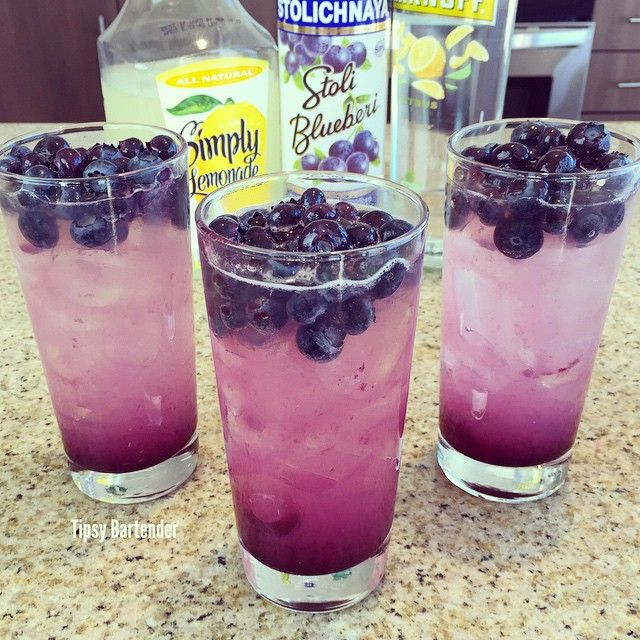 Blueberry Lemonade Cocktail - For more delicious recipes and drinks, visit us here: www.tipsybartender.com