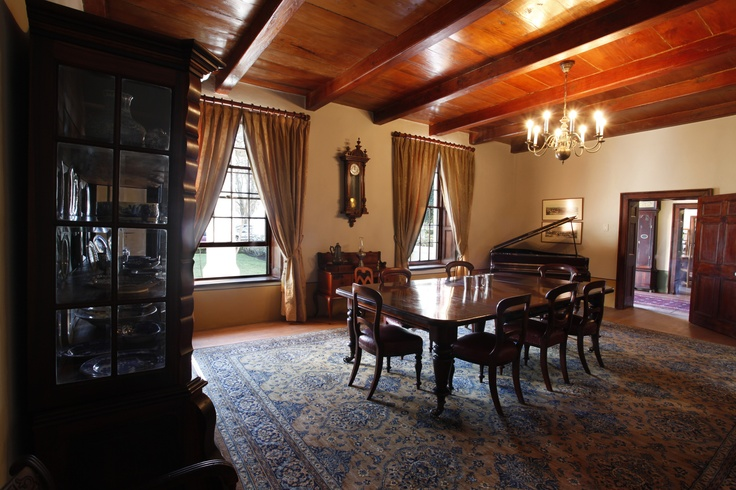 Vergenoegd's drawing room situated inside the 1773 Cape Dutch Manor House,there could be worse places to hold those dreaded meetings