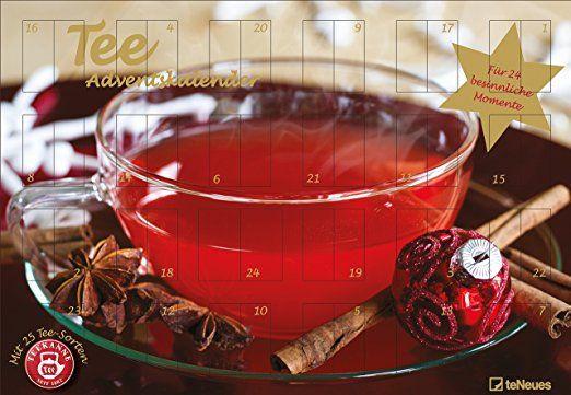 Tee - Adventskalender 2016 - Teekanne, 25 Teekompositionen für eine genussvolle Adventszeit - 56 x 38 cm