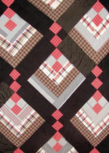 Memory Quilt Made From Men S Shirts Check Out This Memory