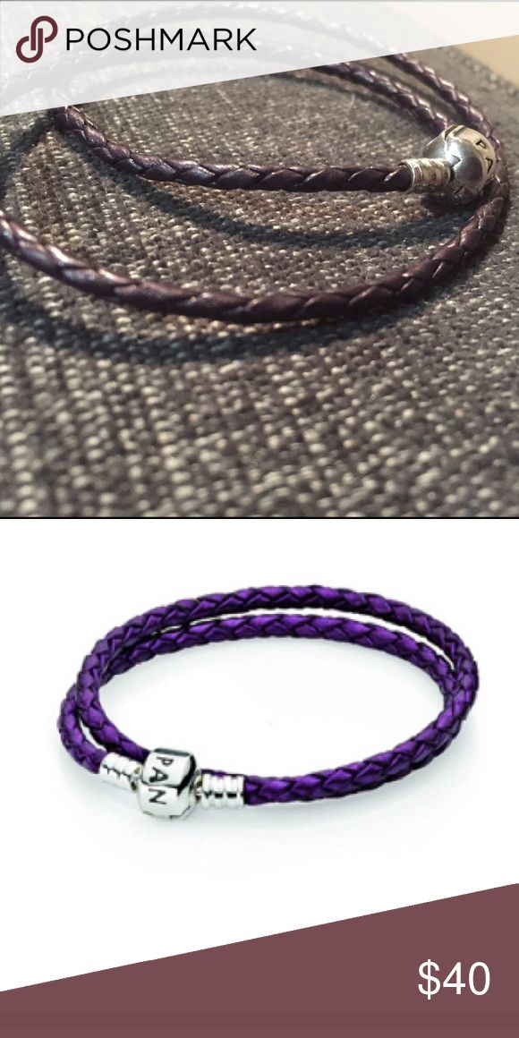 Double Purple Pandora Rope Bracelet Purple Pandora Jewelry Bracelets