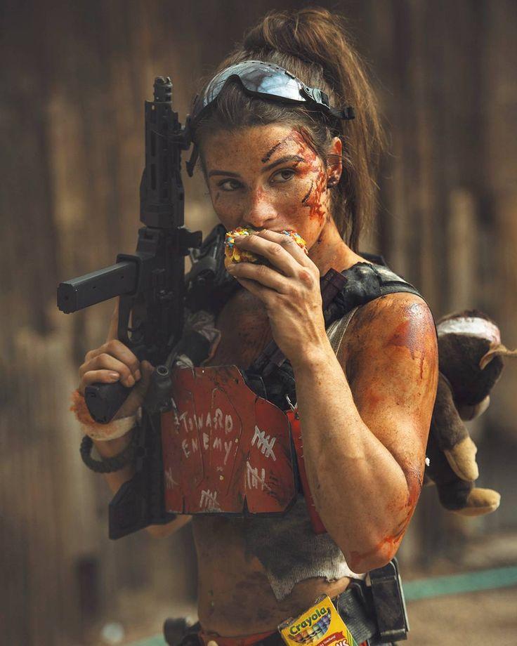 Gun Shooting Girl Machine Likes Facebook