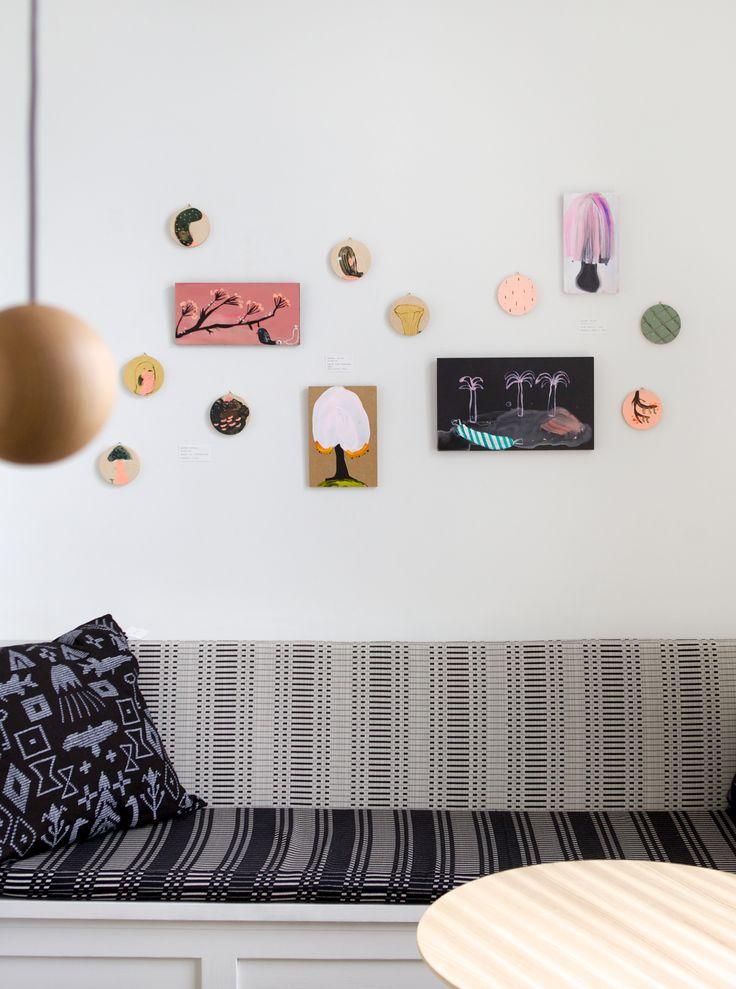WOOD exhibition, paintings by Hanna-Riikka Heikkilä