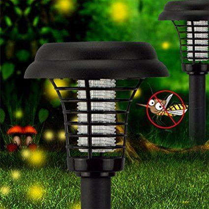 Lampada anti-zanzare ZUOAO Lampada Solare Trappola per Insetti Zanzare e Mosche Luces della Decorazione per Giardino Camera Campeggio e Pesca Insetto killer lampada Solare Nero: Amazon.it: Giardino e giardinaggio