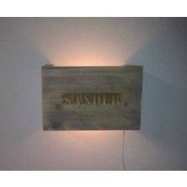 Lamp van steigerhout - Accessoires - Woon- eetkamer