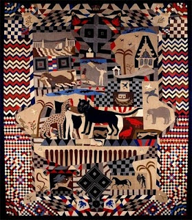 The best folk art quilt ever!  Made in   Wrexham, Wales, by James Williams, a master tailor, between 1842-52.
