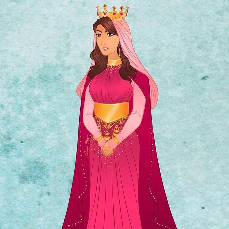 A digital painting of Queen Esther by @beaverdiva