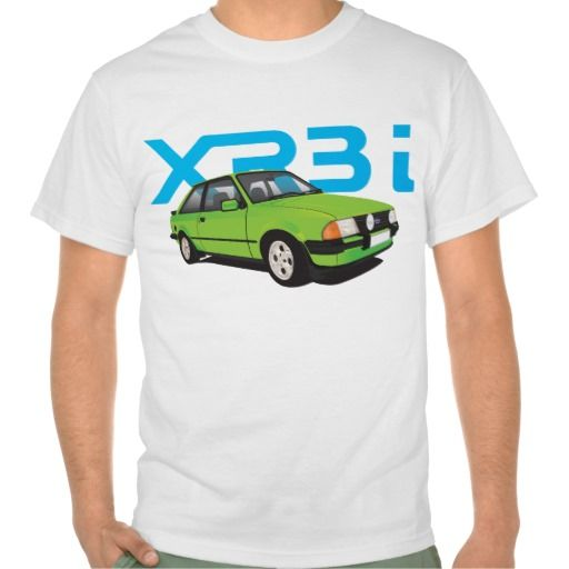 Ford Escort MK3 XR3i green DIY #ford #escort #fordescort #mk3 #xr3i #tshirt #thirts #automobile #car #uk #80s