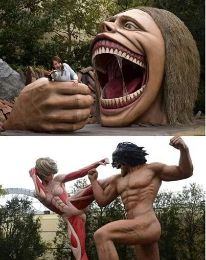 Universal Studios Japan has a theme park or something with a AOT site!!! I want to go just for that *_*