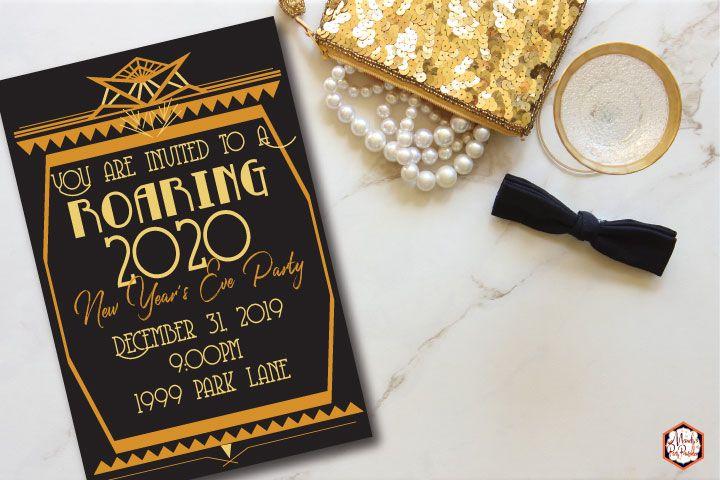 Roaring Twenties New Year Party Printables Roaring Twenties Party Twenties Party Party Printables
