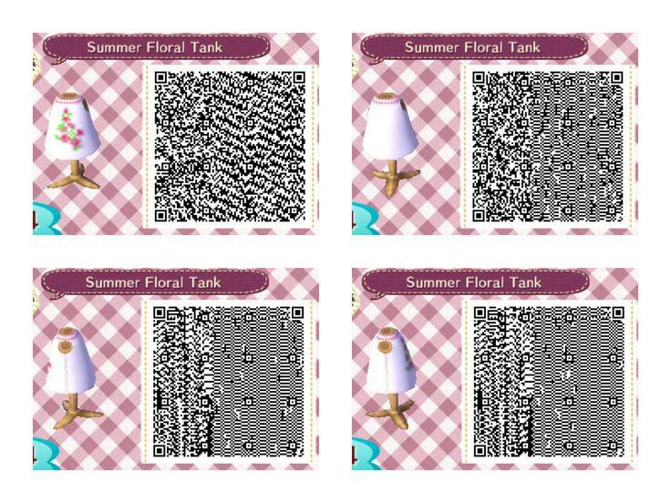 animal crossing new leaf summer floral tank qr code