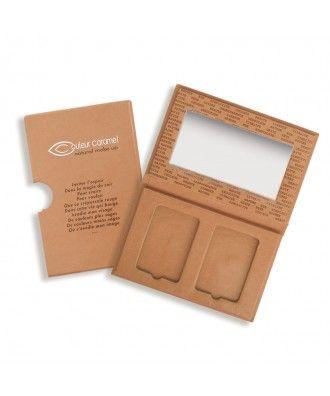 Prázdná paletka na dva kompaktní pudry/tvářenky Couleur Caramel