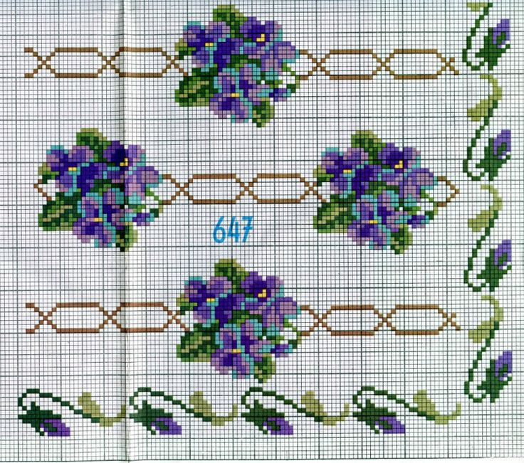 Violets • this would be a beautiful table runner