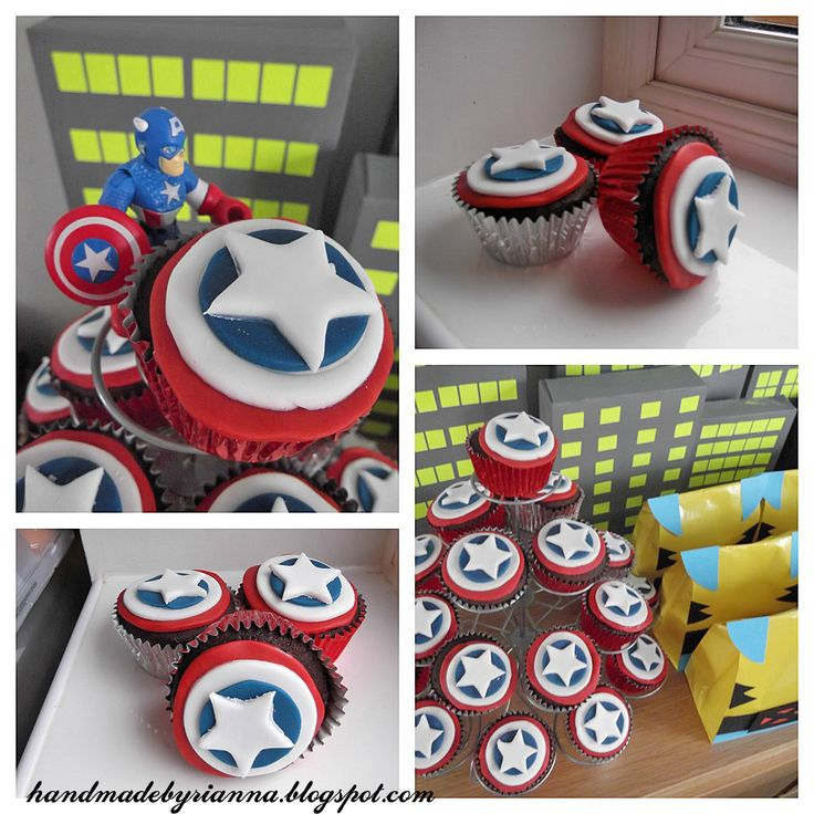 Hand Made By Rianna: Super Hero Party: The finished result!