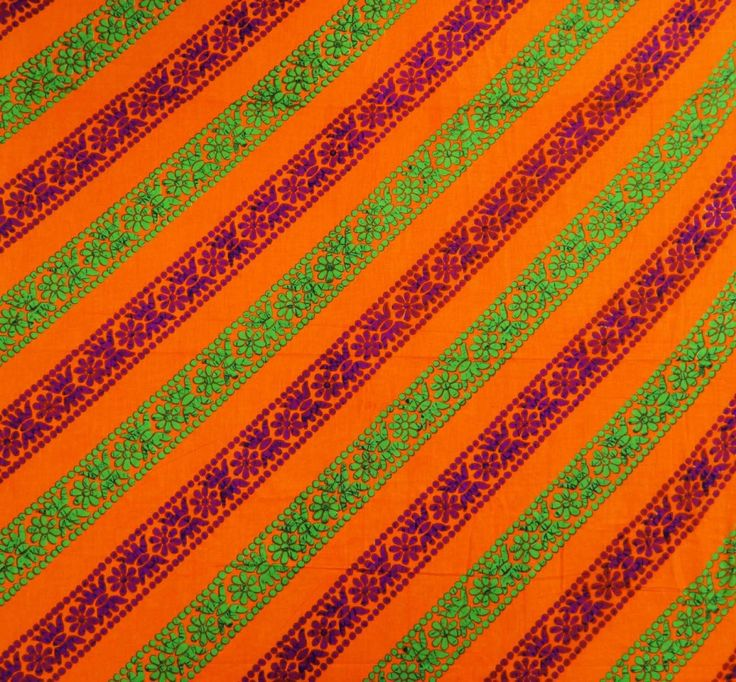 "Orange 43"" Wide Quilting Cotton Floral Printed Designer Sewing Fabric By Per Yard: Amazon.co.uk: Kitchen & Home"