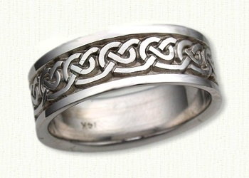 Celtic Galway Knot Wedding Band