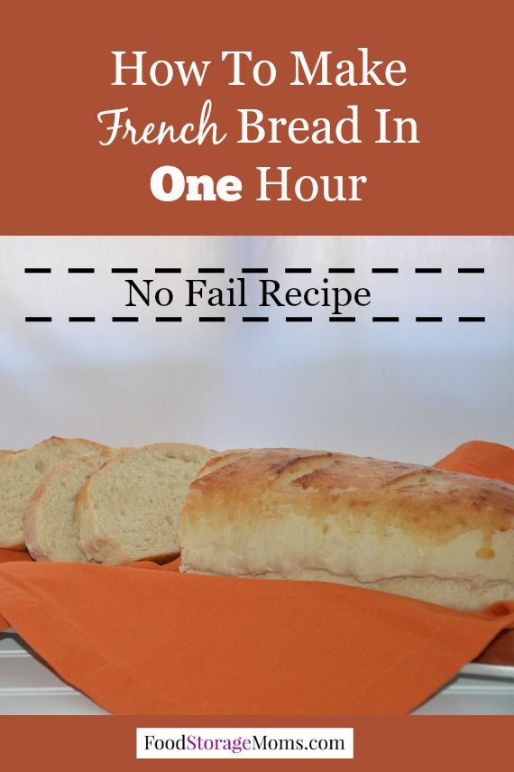French Bread How To Make In One Hour Start To Finish ...