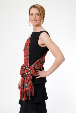 This high quality lightweight tartan sash can be worn to accompany many outfits, as well as for its original dance use, and is a charming addition to any stylish wardrobe. Description from thescottishweaver.com. I searched for this on bing.com/images