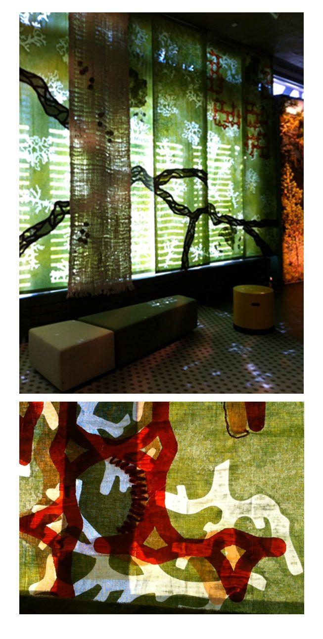 Naava-teos Pyhä-Luoston uuteen Luonto- ja kulttuurikeskus Naavan pysyvään näyttelyyn, suurikokoisen (n. 24 m²) tilataideteoksen suunnittelu, valmistus ja valmistuttaminen  // Tilaaja/Client: Metsähallitus // Suunnittelu/Design: ATE09,   2012 // Yhteistyökumppanit/Partners: Luonto- ja kulttuurikeskus Naava, Wetterhoff Oy, Pyhä-Luosto Kansallispuisto, Pirkanmaan Kotityö Oy, Jämsän huopatehdas, Whaleys (ENG), Emo Tuotanto Oy, T:mi Pirkko Hassi, Winclean Oy