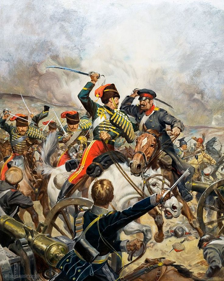 Charge of the Light Brigade at the Battle of Balaclava, Crimean War.