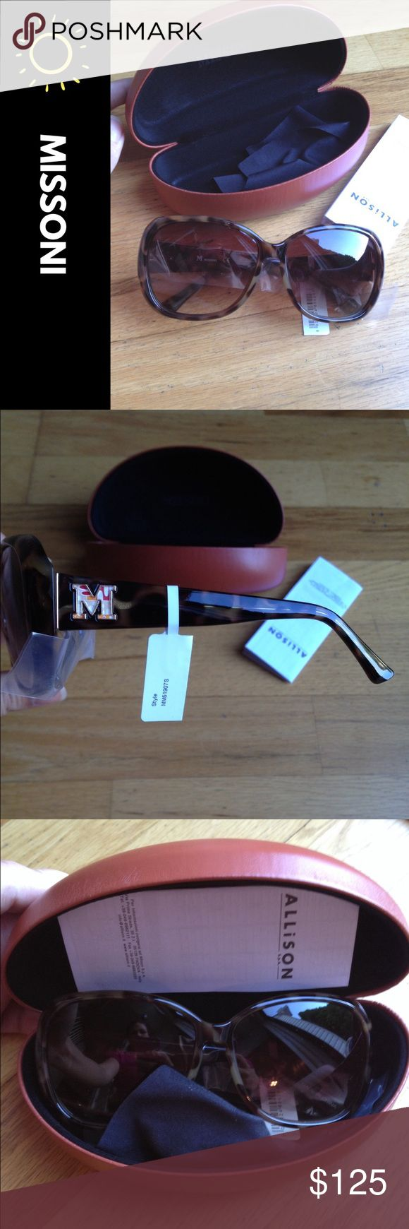 Final Sale! New Missoni Sunglasses. New classic style. Comes with case. Price Firm! Missoni Accessories Sunglasses