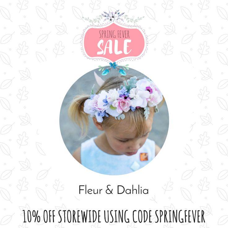 FLOWER CROWNS 10% off storewide.  Valid until midnight Oct 1 Code: SPRINGFEVER
