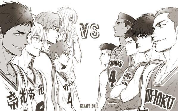 Kuroko no Basket vs Slam Dunk  tan tan tan !!