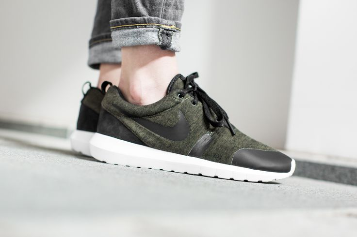 best sneakers 5c6d0 2a91e ... NIKE ROSHE NM TP FLEECE PACK CARGO KHAKIBLACK-WHITE available at ...