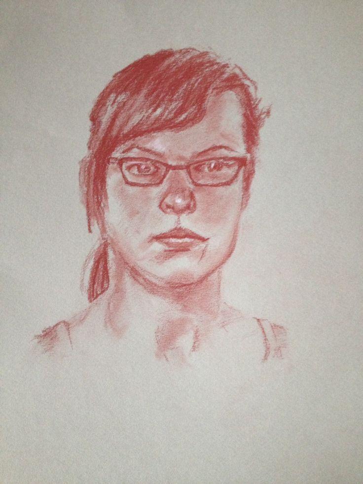 Art class model Weronika - June 2014. pastel pencil