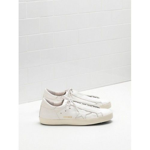 Golden Goose Homme Sneakers Soldes - Nouveau Golden Goose Super Star GGDB Homme Sneakers Blanc Or