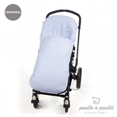Saco de verano para silla de paseo universal de la colección Atelier de Pasito a pasito. Ideal para cubrir la silla de paseo provista de saco y que tu bebé esté fresquito durante los meses de verano.