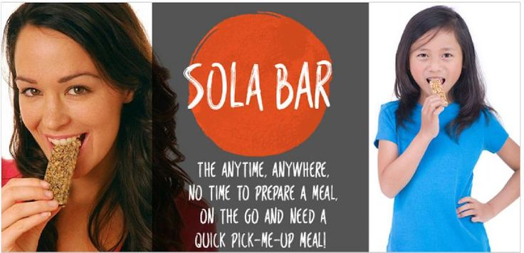 What if you want a snack … something to tide you over until the next meal so you don't need to raid a vending machine or buy junk food at the nearest store or fast-food restaurant.  Sola Bars can actually be one of several meals you eat in a day – an important thing when you're following a diabetic diet. Consider them kind of a meal-bar … a meal in a bar.